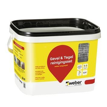 Weber reinigingsset voor tegel & gevel 2,5 l