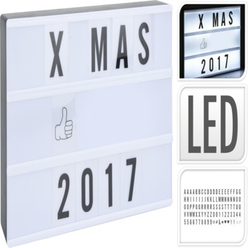 Lichtbox LED incl. 100 symbolen 31x5x22 cm