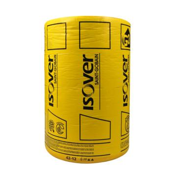 Rouleau de laine de verre à languettes Isover Rollisol 45x1200 cm épaisseur 6 cm 10,8 m² Rd=1,5 2 pièces