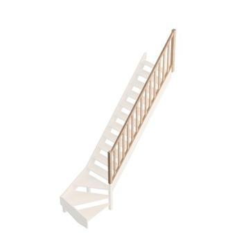 Savoie traditionele leuning met ingefreesde balustrade voor trap met kwartslag