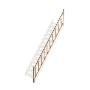 """Savoie leuning type """"T"""" met gedraaide balustrade voor rechte trap"""