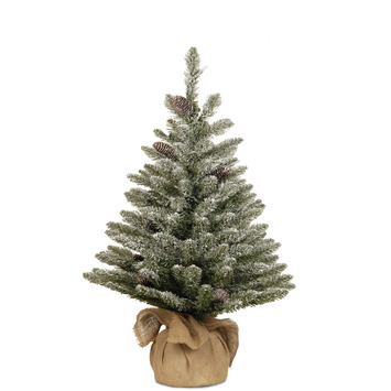 Kerstkerstboom met sneeuw en dennenappels 61 cm