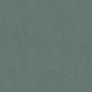 Vliesbehang Blad groen 105972