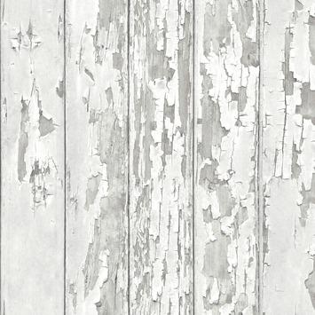 Papier peint intissé bois blanc 105745