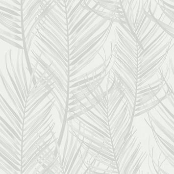 Papier peint intissé Palmier blanc-gris 105964 10m x 0,52cm