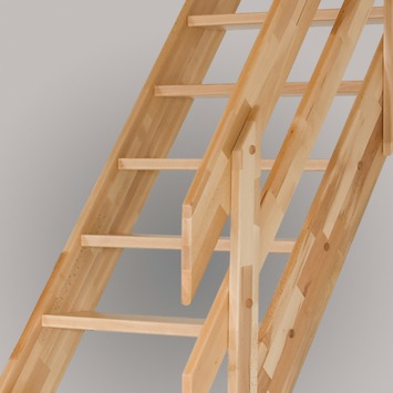 Sogem horizontale trapleuning beuken voor trap Alsace