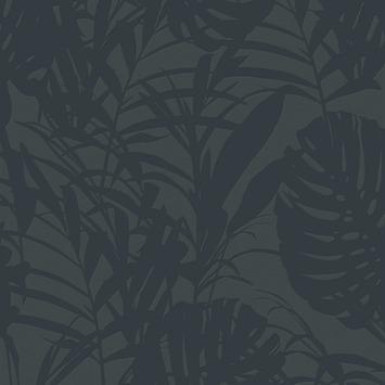 Vliesbehang Palm blauw 105976