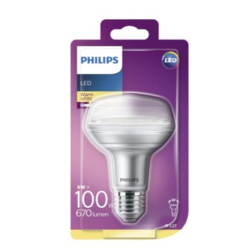 Philips LED reflector E27 8 W 735 Lm