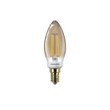 Ampoule LED bougie Philips gold E27 5 W 350 Lm dimmable