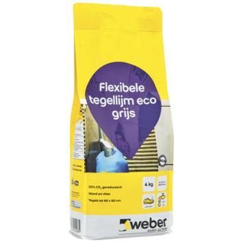 Colle Pour Carrelage Tile Flex Weber 4 Kg Gris