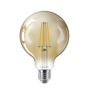Philips LED globe E27 50W filament goud dimbaar