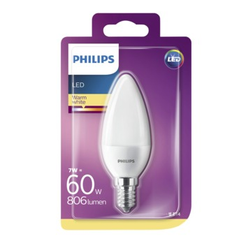 Philips LED kaarslamp E14 7 W 806 Lm