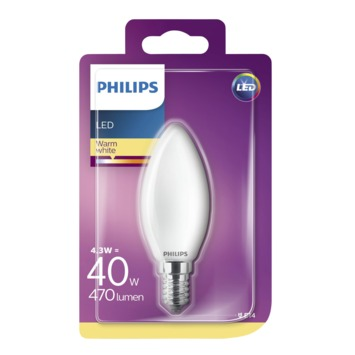 Ampoule LED bougie Philips E14 4,3 W 470 Lm