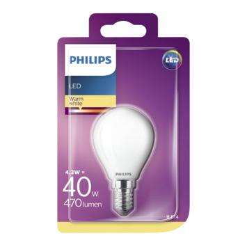 Ampoule LED sphérique Philips E14 4,3 W 470 Lm