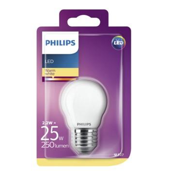 Philips LED kogellamp E27 2,2 W 250 Lm