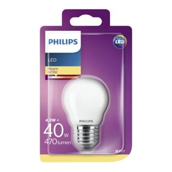 Ampoule LED sphérique Philips E27 4,3 W 470 Lm