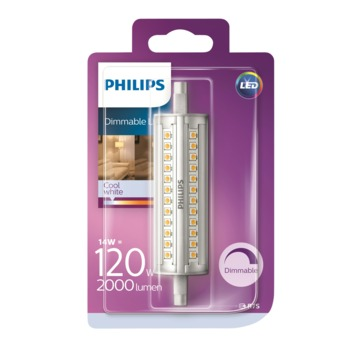Ampoule LED tube Philips  118 mm R7S 14W 2000 Lm dimmable