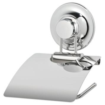 Everloc toiletrolhouder met deksel chroom