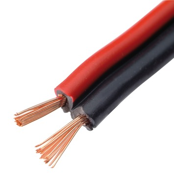 Câble audio Handson 2x 0,75 mm² 25 m rouge/noir