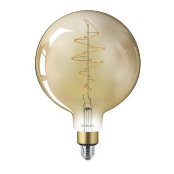 Philips LED Giant globe E27 40W filament goud dimbaar