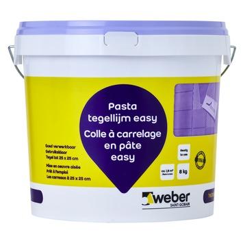 Colle en pâte pour carrelages Easy Weber 8 kg beige