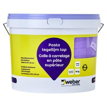 Colle en pâte pour carrelages Top Weber 16 kg blanc