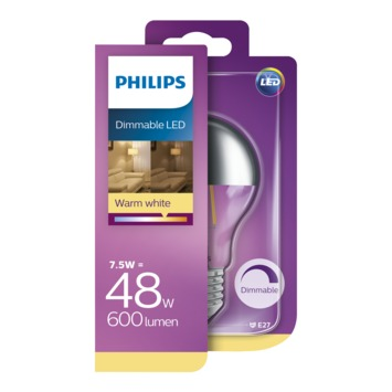 Ampoule LED poire Philips E27 7,5 W 610 Lm dimmable
