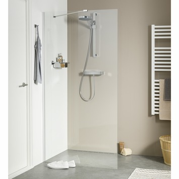 Douche walk-in A3 Style 88x195 cm argenté brillant verre transparent