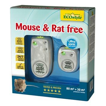 Répulsif ultrasone rats et souris Ecostyle pour locaux de 80 m² et 30 m²