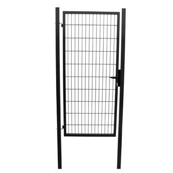 Enkele poort Roma/Milano zwart 120x100 cm