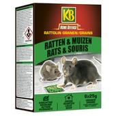 KB Rattolin granen tegen ratten en muizen 6 x 25 g