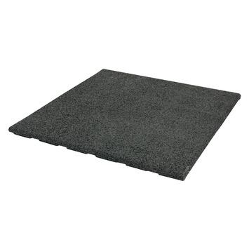 Dalle en caoutchouc 50x50x2,5 cm noir