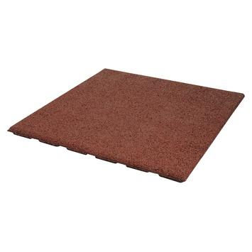 Terrastegel Rubber Rood 50x50 cm
