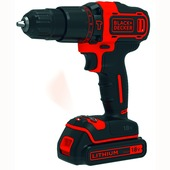 Black+Decker accuklopboormachine 18 V Li-Ion 2xaccu BDCHD18KB-QW