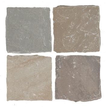 Cobles Sandstone Brun 14x14x5 cm - 650 Pièces / 13,0 m2