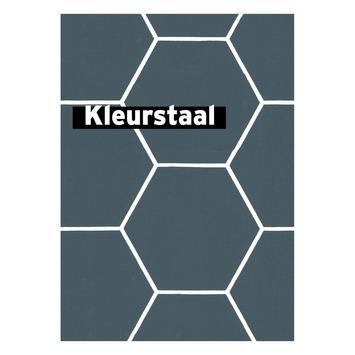 Échantillon intissé motif hexagonal bleu 101671