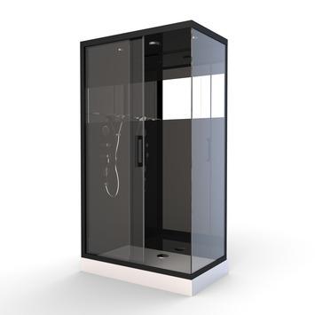 Cabine de douche Black Mirror 2 Aurlane rectangulaire 80x110 cm
