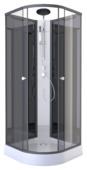 Aurlane douchecabine Zen zwart 85x85 cm