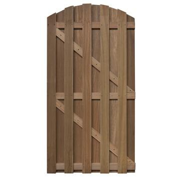 Porte de jardin bois dur 180x90cm cintré