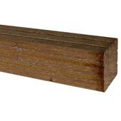 Poteau en bois dur 6,5x6,5x270 cm