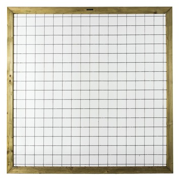 Gaasscherm in lijst 180x180 cm