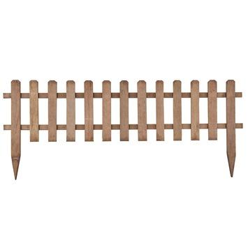 Clôture à piquets en bois dur Goya 45x110 cm