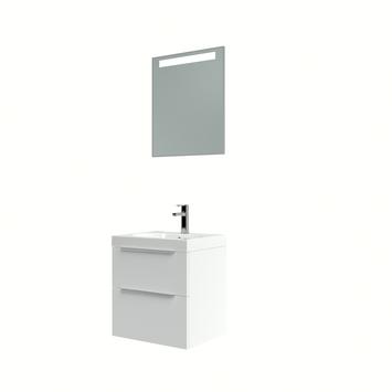 Bruynzeel Muza badmeubelset met spiegel 50cm hoogglans wit