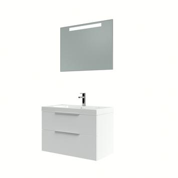 Bruynzeel Muza badmeubelset met spiegel 80cm hoogglans wit