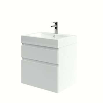 Monta badkamermeubel met wastafel hoogglans wit 60 cm
