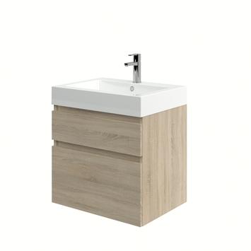 Monta badkamermeubel met wastafel grijs eiken 60 cm