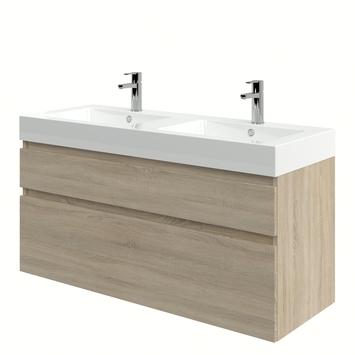 Meuble de salle de bain Monta avec lavabo chêne gris 120 cm