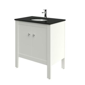Heros badkamermeubel staand met wastafel rond oud wit 80 cm