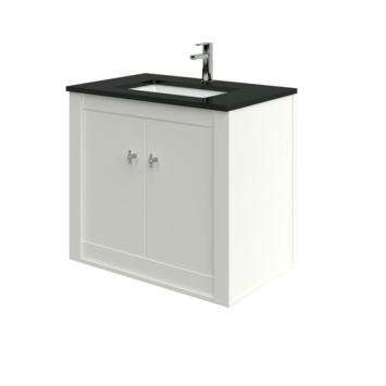Heros badkamermeubel hangend met wastafel rechthoekig oud wit 80 cm