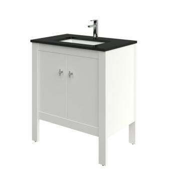 Heros badkamermeubel staand met wastafel rechthoekig oud wit 80 cm